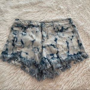 Altar'd State Bleached Frayed Jean Shorts